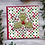 "Thumbnail: Polka Dots & Holly, 6""x6"", envelope included"