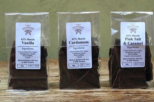 Chocolate Shards (62%, 60g) - Vanilla