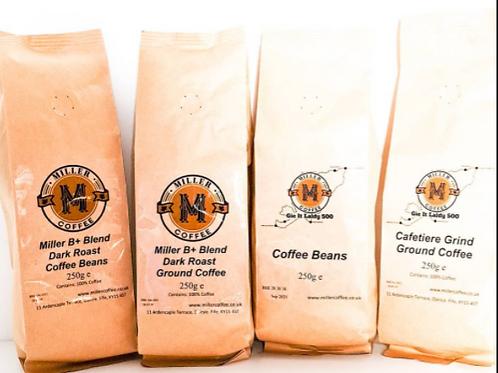 Miller B+ Blend Dark Roast Ground Coffee 250g