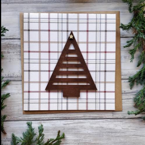 "Geometric Christmas Tree, 6""x6"", envelope included"