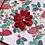 "Thumbnail: Glitter Pointsettia, 4""x4"", envelope included"