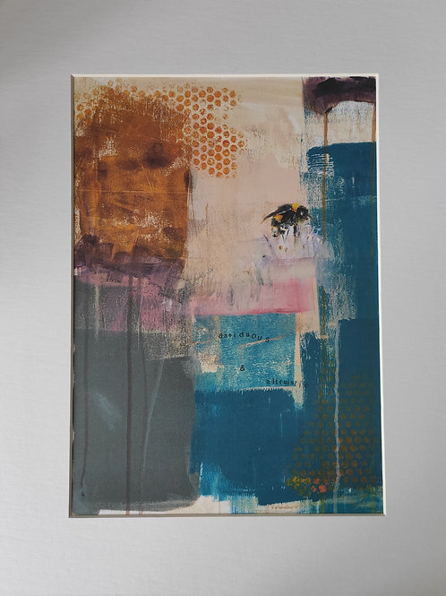 Mounted Bee Gicleé 'Assiduous and Altruistic',