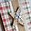 "Thumbnail: Burlap, Star, & Felt Snowflake, 4""x4"", envelope included"