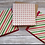 "Thumbnail: Stars & Stripes Reindeer set of 3 cards, 6""x6"", envelope included"