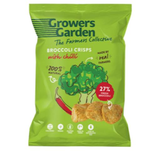 Growers Garden Broccoli Crisps - Chilli (78g)