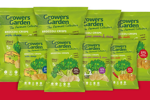 6x Growers Garden Broccoli Crisps (78g)