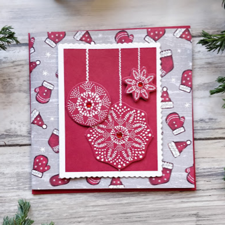 "Paper Snowflakes, 4""x4"", envelope included"