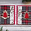 "Thumbnail: Tartan Pines set of 2 cards, 4""x4"", envelope included"