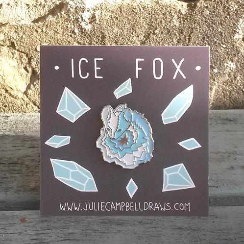 Ice Fox Enamel Pin
