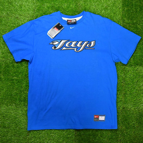 Nike, Blue Jays Middle Swoosh Tee, DS