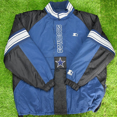 Starter Dallas Cowboys Big Logo Pouch Jacket