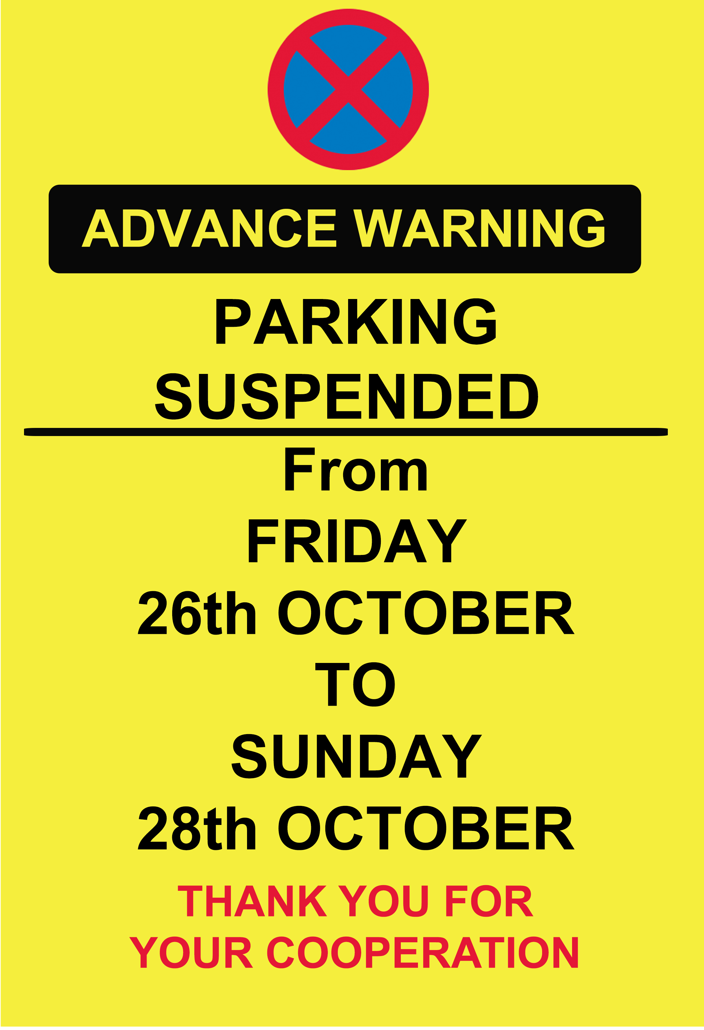 A2 ADVANCE WARNING PARKING MAGIC HOUR ps