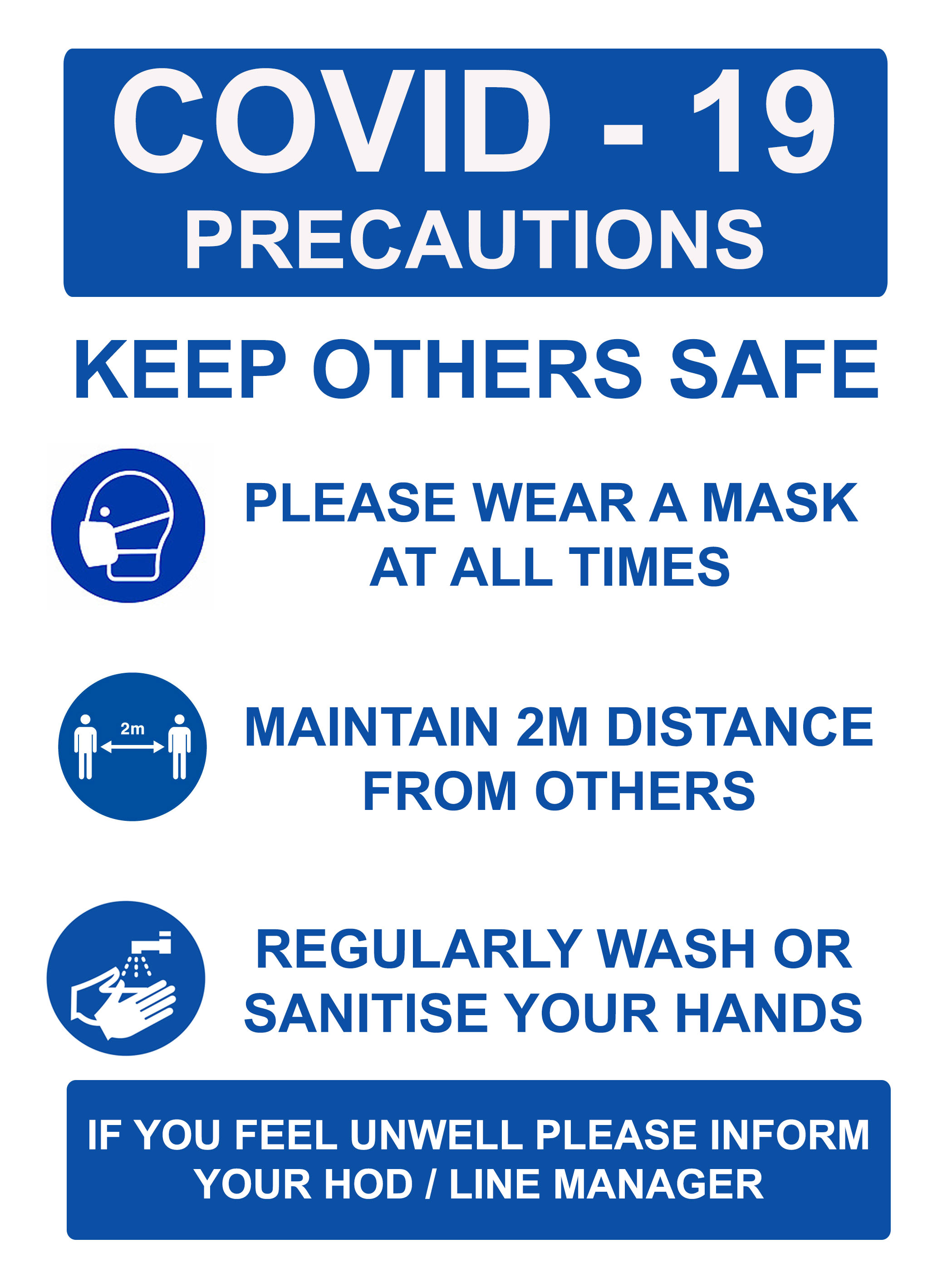 BLUE COVID 19 KEEP OTHERS SAFE