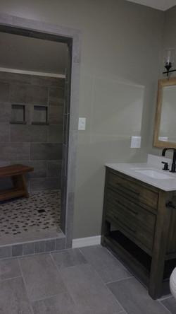Bathroom toward shower