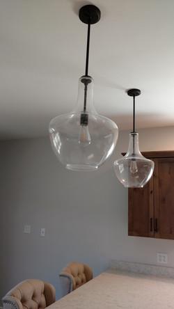 Seeded Glass Pendants