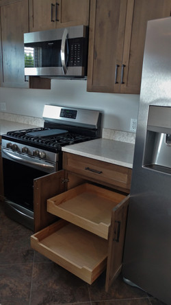 Cabinet with Pull-Out Trays