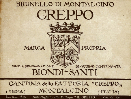 The Wine created by a single man: the Biondi-Santi Brunello