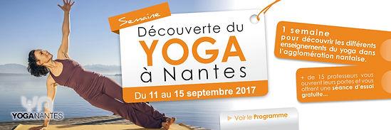 Semaine du yoga à Nantes : cours découvertes, Saison 2017-2018