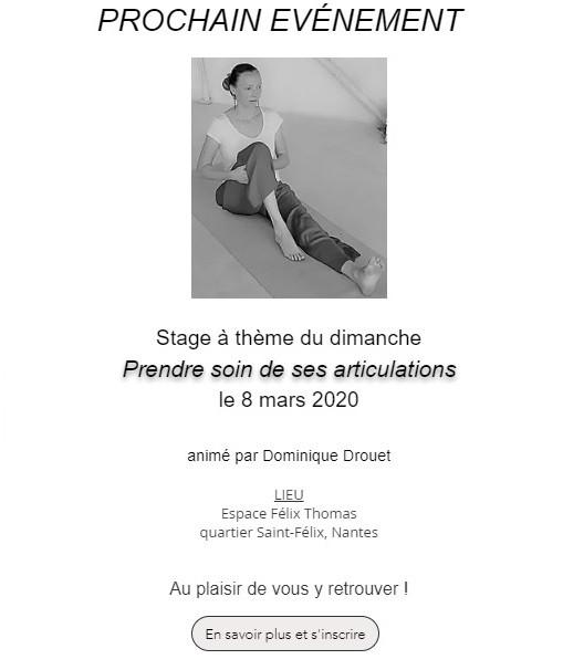 Stage à thème du dimanche 8 Mars I  | À Corps Libre | Yoga de l'énergie | Nantes