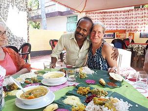 Thali, repas traditionnel indien, Voyage en Inde, Kerala, Yoga en Inde, Massages ayurvédiques