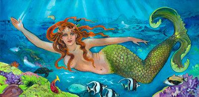 Mermaid 18 x 36