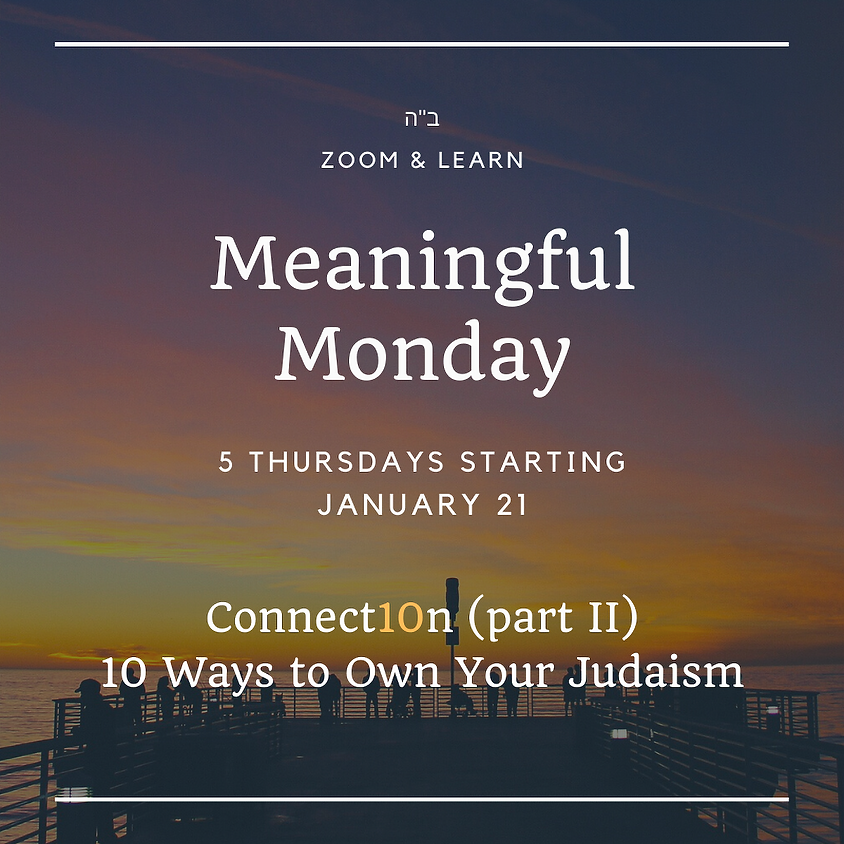 Meaningful Monday - Winter Semester 2021