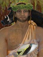 Kamapua'a 15 x 20 canvas