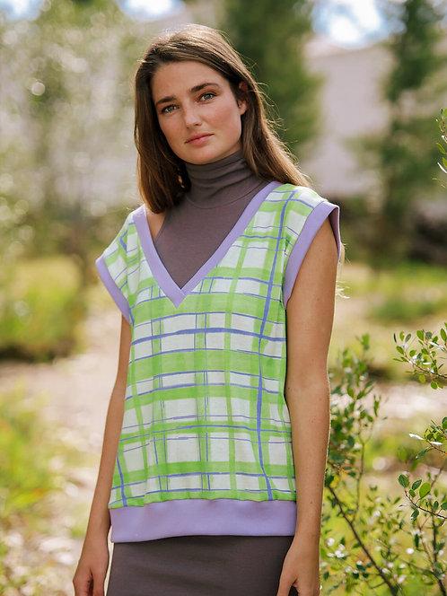 Geometric Green / Purple Vest