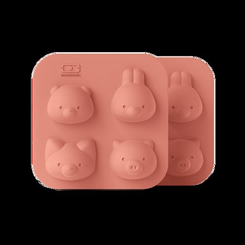 Moules  à gateaux -  Chocolats - Glaçons en silicone animaux Bento