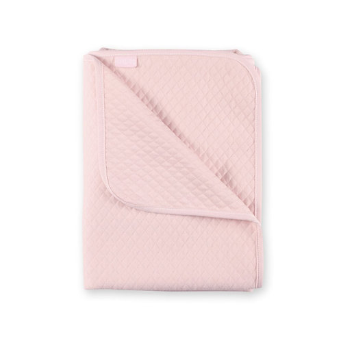 COUVERTURE 75x100cm rose doux quilted jersey tog 1.5