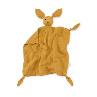 BUNNY 40x40 cm jaune ocre mousseline de coton Bemini