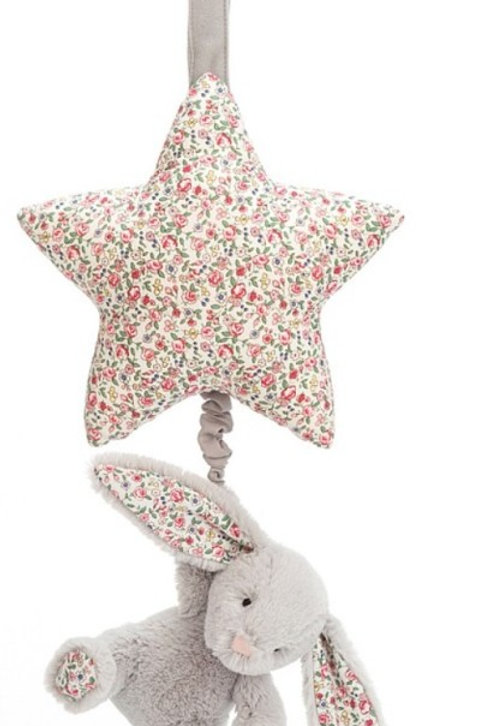 Jellycat - Lapin Beige  Blossom peluche musicale étoile
