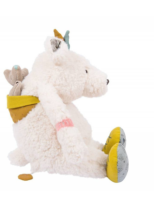 Moulin Roty - Ours Blanc Pom Le voyage d'Olga / Musical