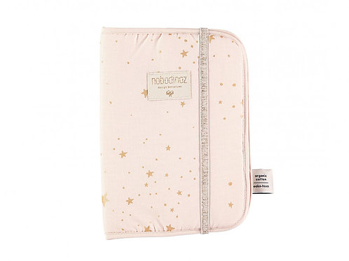 Nobodinoz - Protège-carnet de santé A5 Poema gold stella dream pink