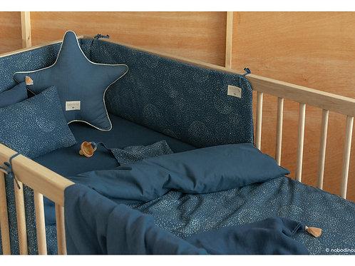 Tour de lit Nest Bubble en coton bio Bleu nuit - Nobodinoz