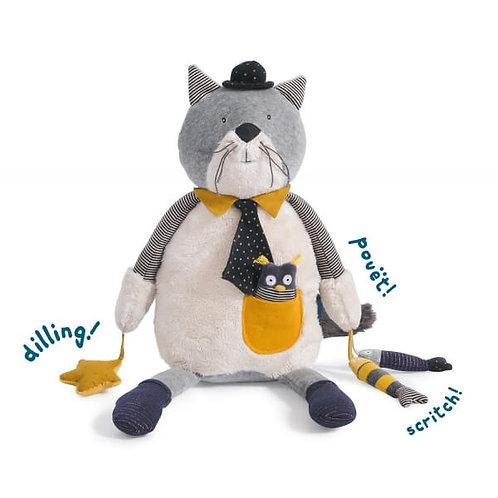 Moulin Roty- chat Fernand - peluche d'activités