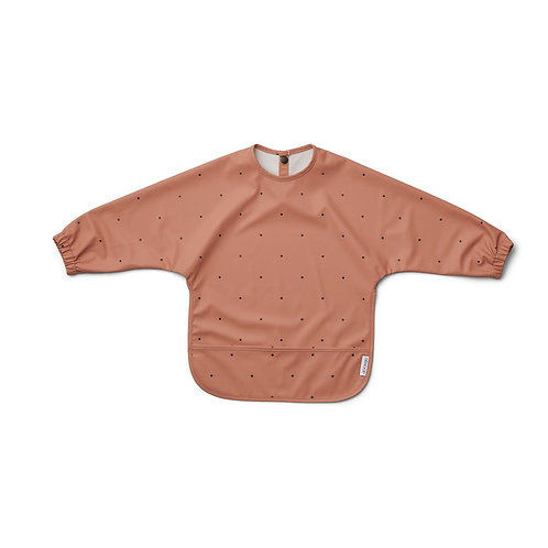 Bavoir avec manches Merle Classic dot tuscany rose - Liewood