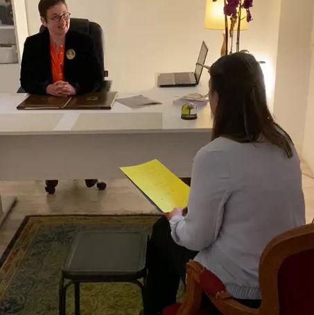Interview de Madame Rhoné