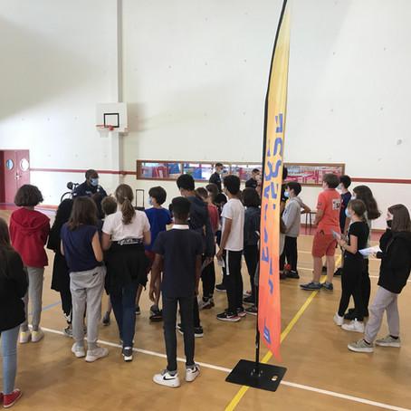 Action de prévention et sensibilisation à la sécurité routière - au Gymnase Hunebelle