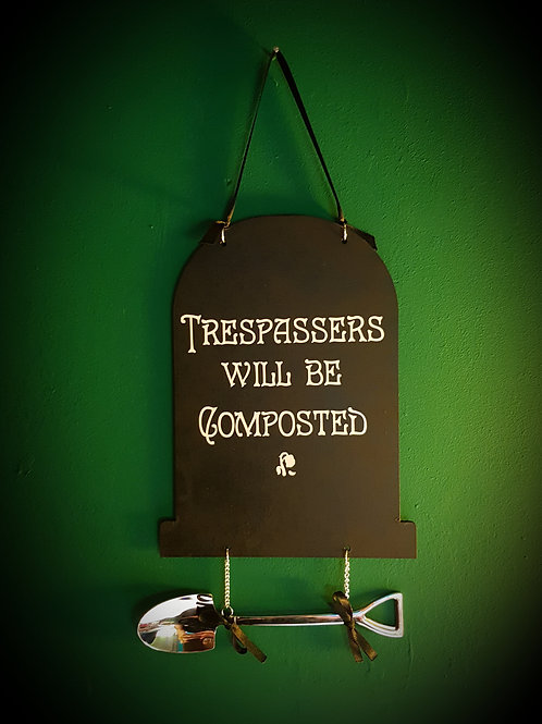 Chalkboard Sign - Compost
