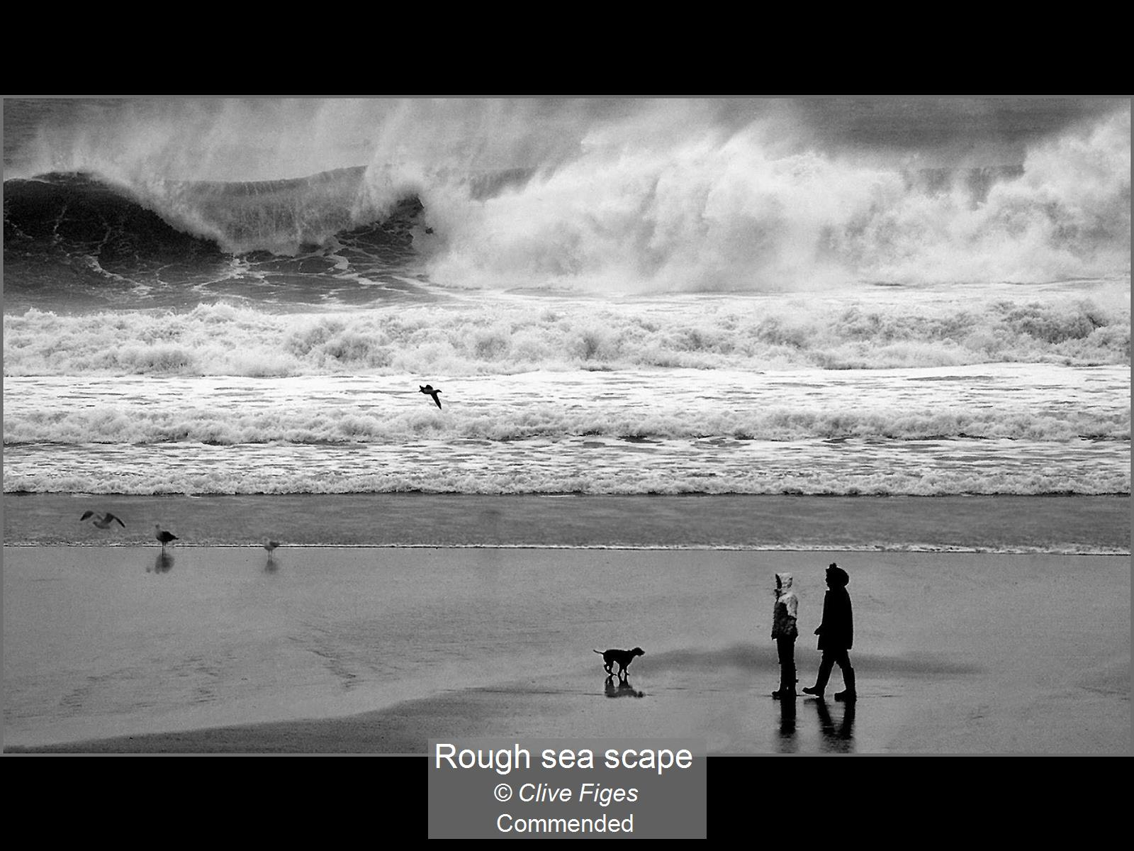 Rough sea scape_Clive Figes_Comm