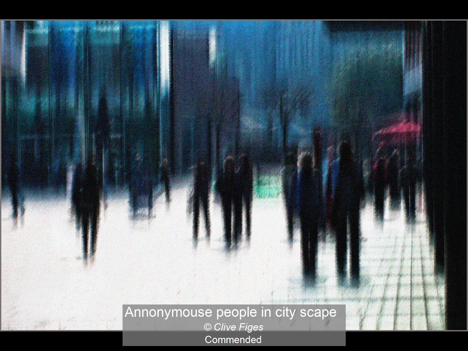 Annonymouse people in city scape_Clive F