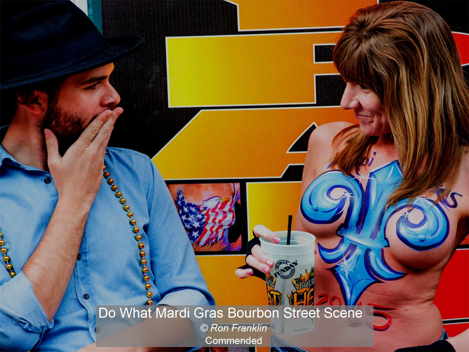 Do What Mardi Gras Bourbon Street Scene_