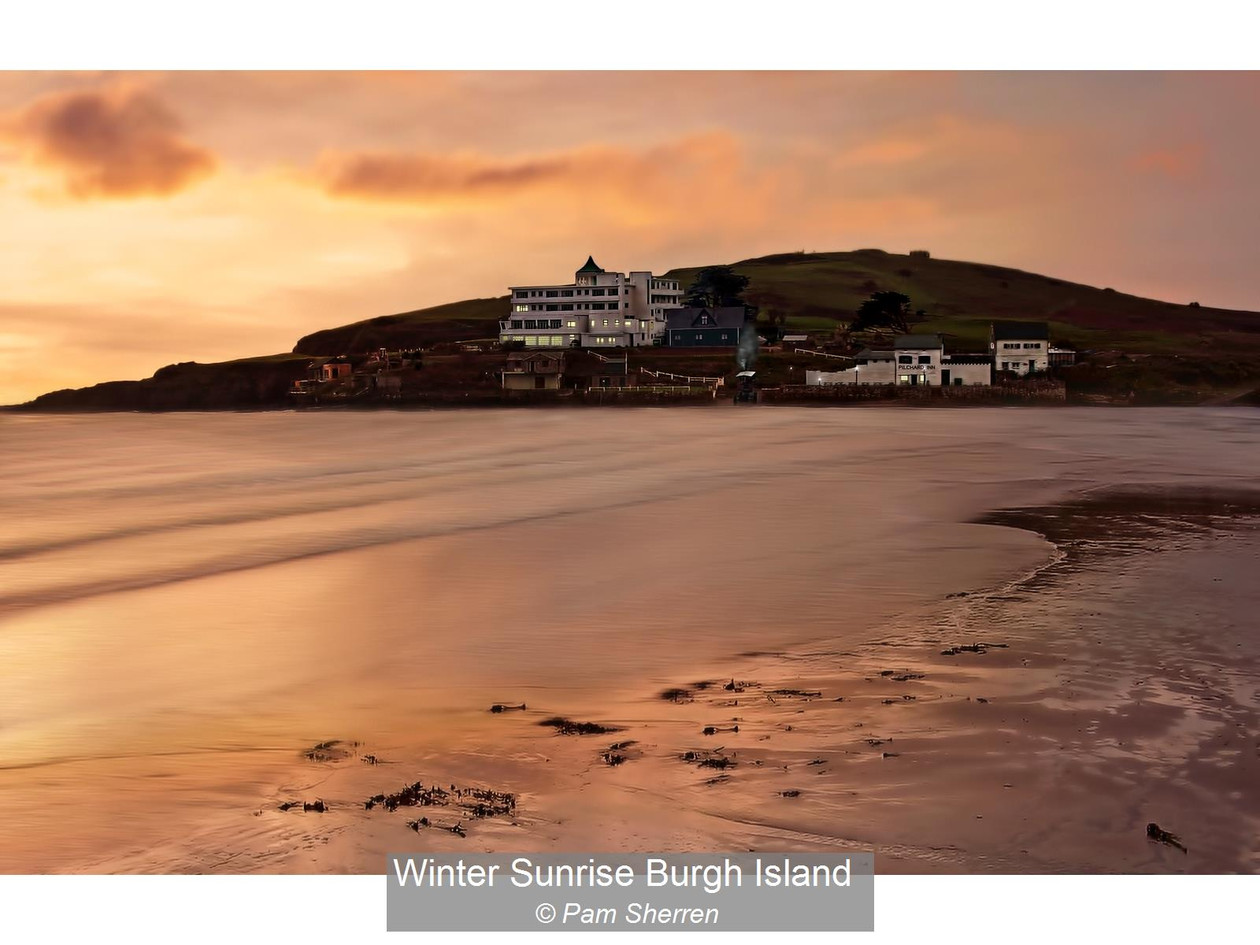 Winter Sunrise Burgh Island_Pam Sherren.