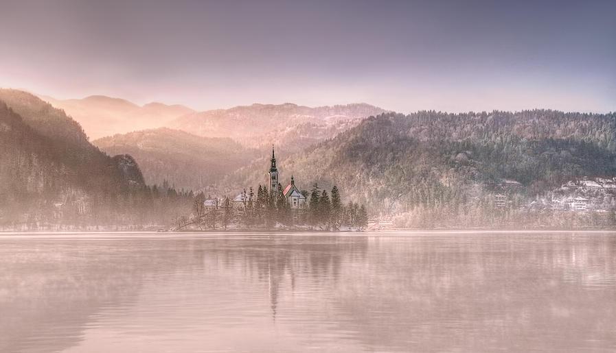 Gold_Pam Sherren_Lake Bled Mist
