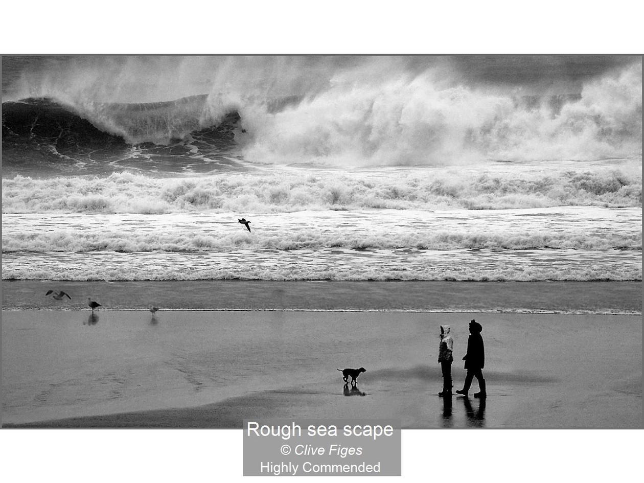 Rough sea scape_Clive Figes_Certificate.