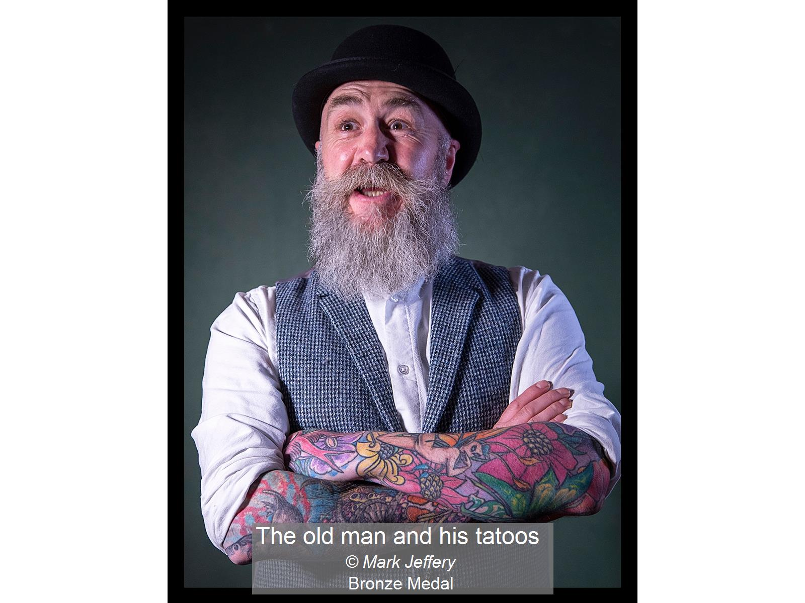 The old man and his tatoos_Mark Jeffery_