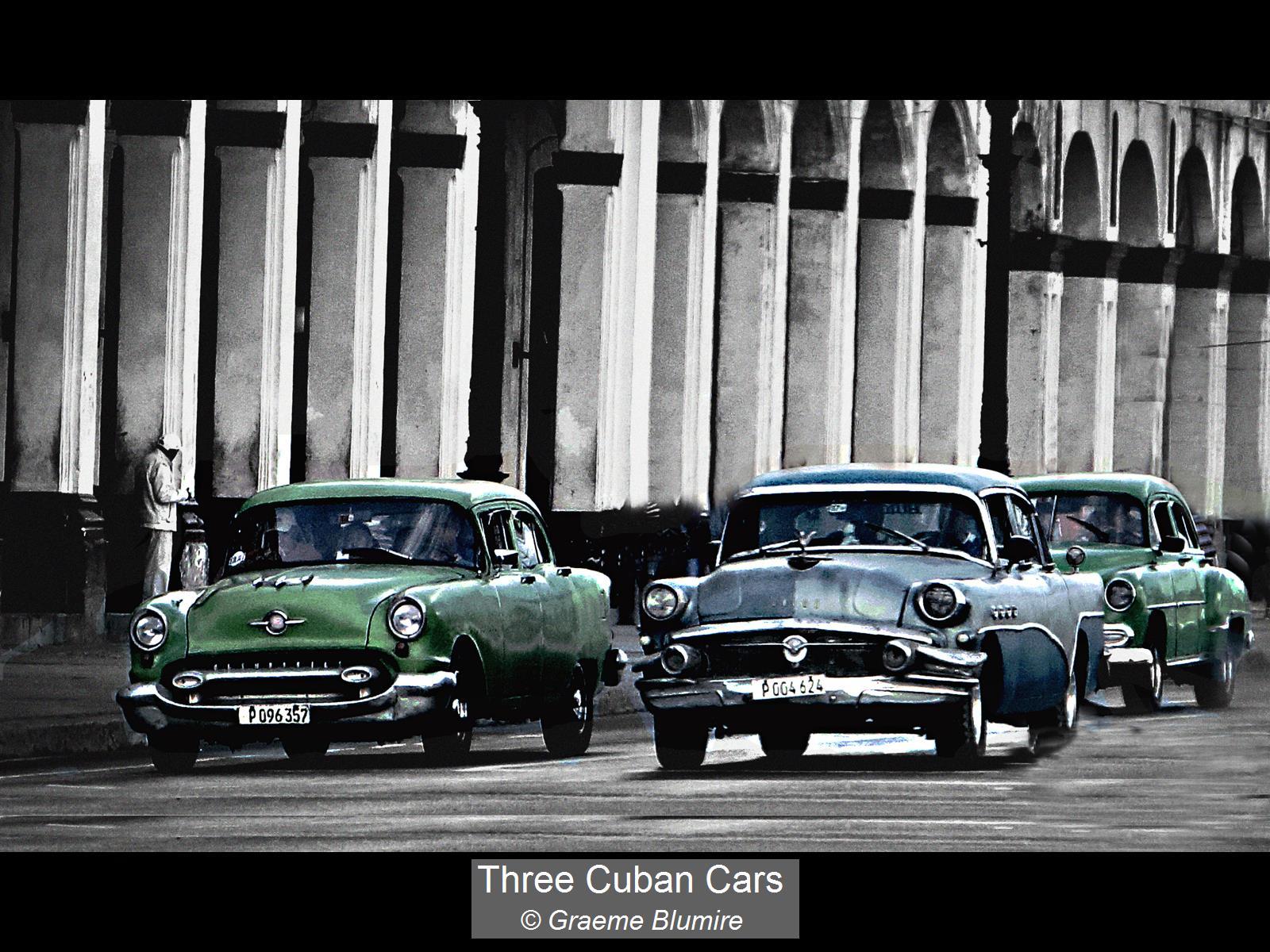 Graeme Blumire_Three Cuban Cars_None
