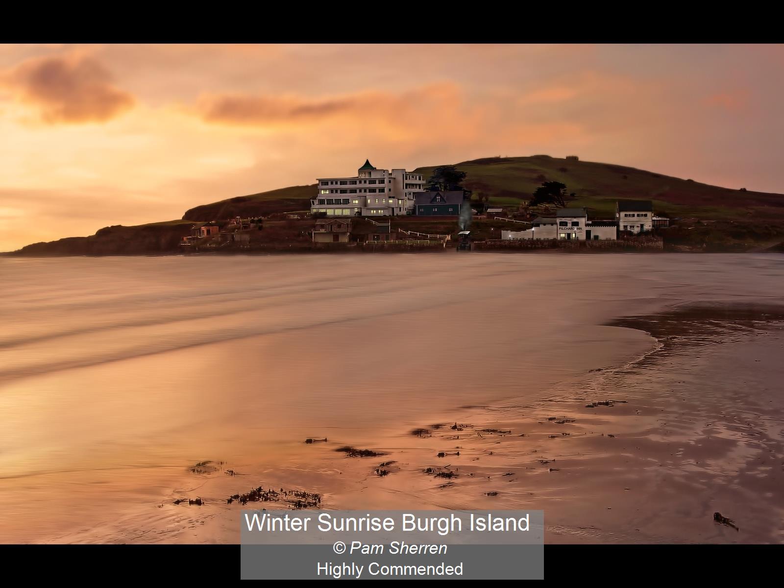 Winter Sunrise Burgh Island_Pam Sherren_
