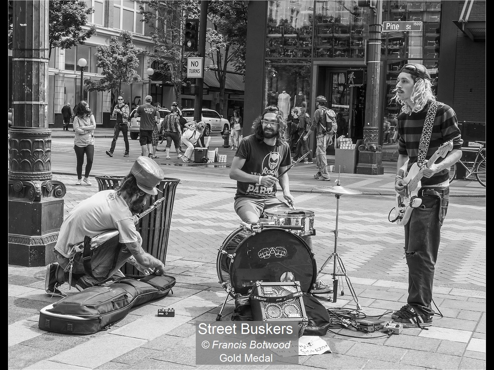 Francis Botwood_Street Buskers_Gold